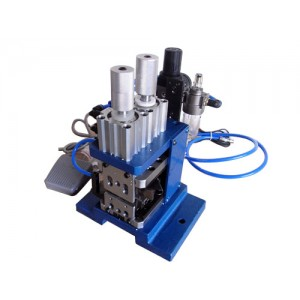 LL-3FN Pneumatic Wire Twisting Stripping Machine For Multicore Cable