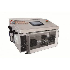 fully automatic round sheathed cable cutting stripping machine