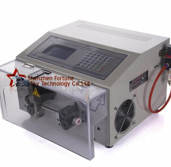 full or partial stripping machine for submersible 3 core flat cable, 3 core flat cable stripping machine
