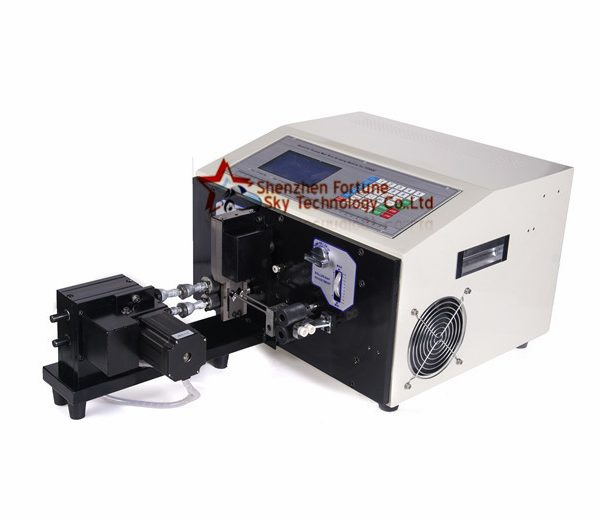 wire stripping machine cut strip twist stranded wire
