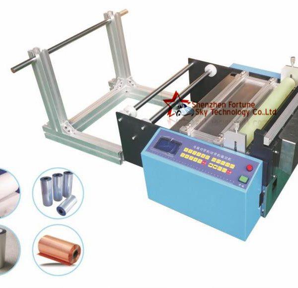 cut to length reel to sheet cutting machine for aluminum foil, foil guillotine cutter machine