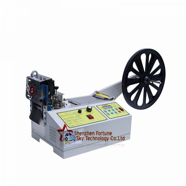 Fully Automatic Ribbon Zipper Elastic Band Velcro Cutting Machine0